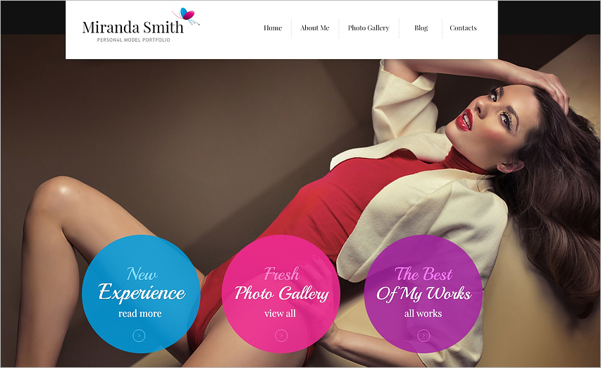 Fashion Model Portfolio Joomla Template