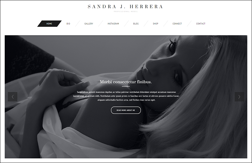 Fashion Model WordPress Theme With Visual Composer