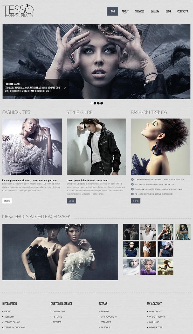 Fashion Responsive HTML Website Template