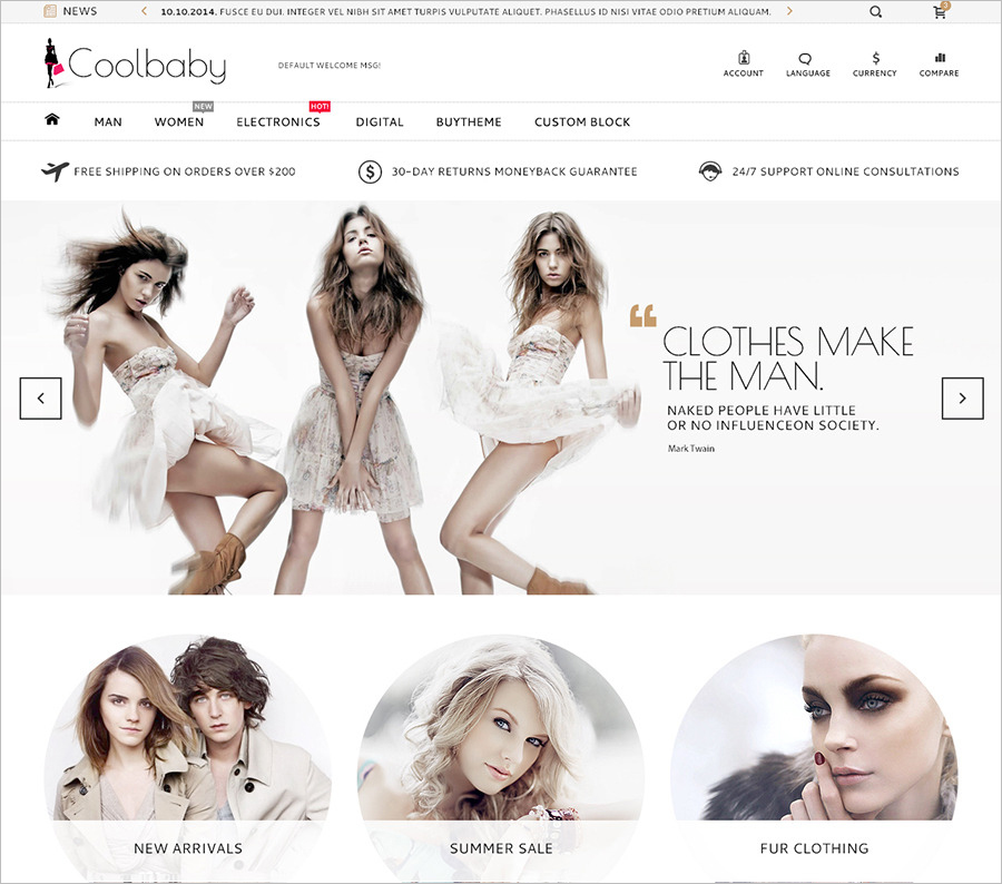 Fashion eCommerce HTML theme