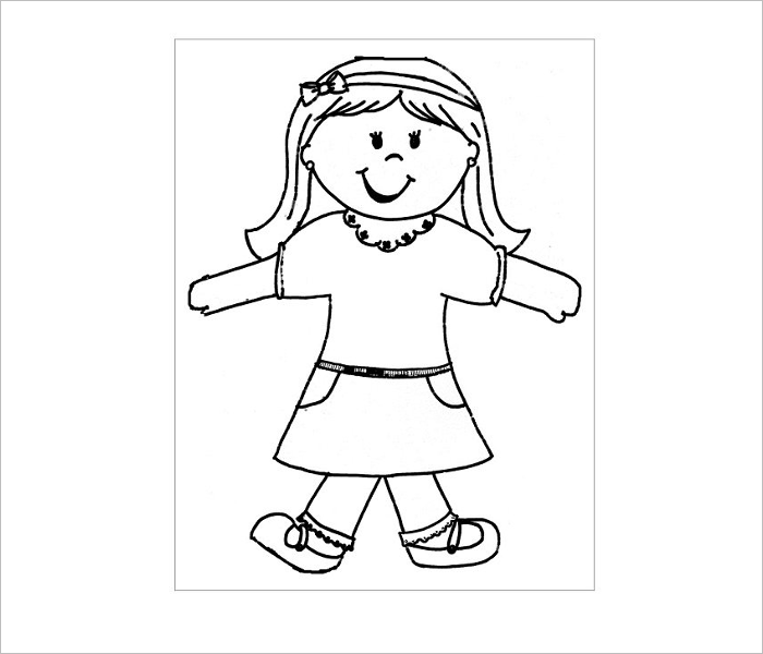 Female Flat Stanley Image