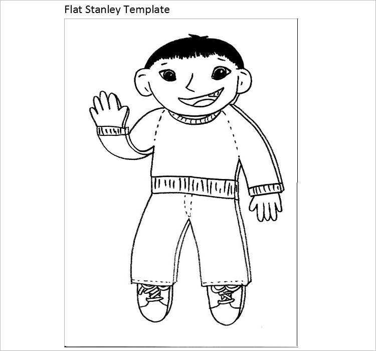 Flat Stanley Template Download