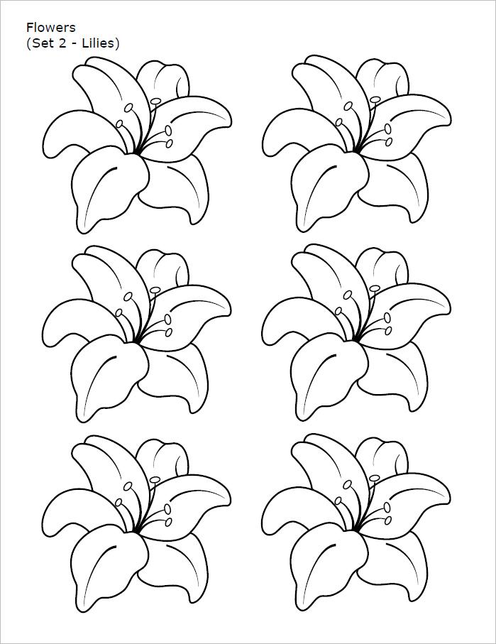 Flower templates free printable pdf psd patterns creative flower template free download pronofoot35fo Image collections
