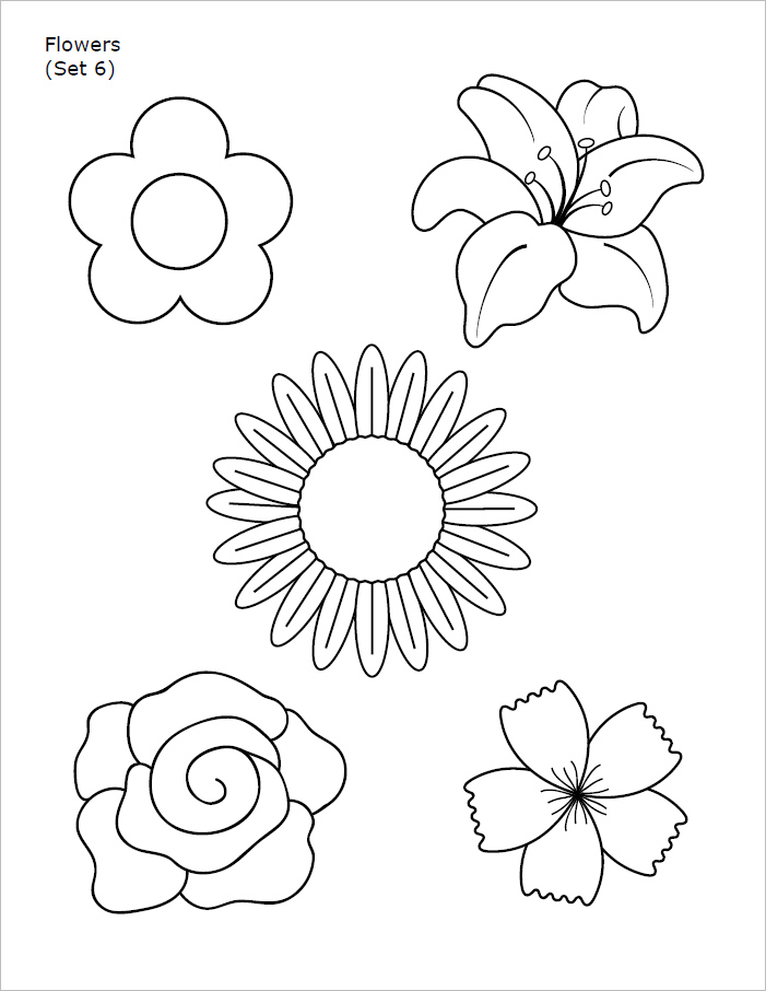 Flower Templates - Free Printable Pdf, Psd Patterns | Creative