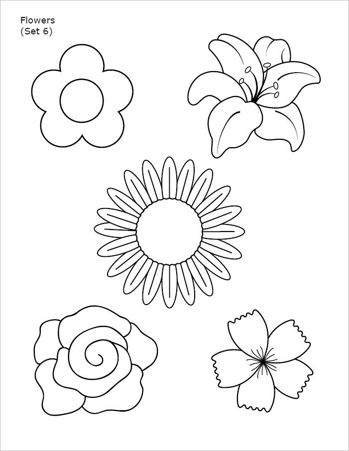 Flower Template pdf