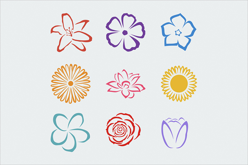 Flower Templates to Paint