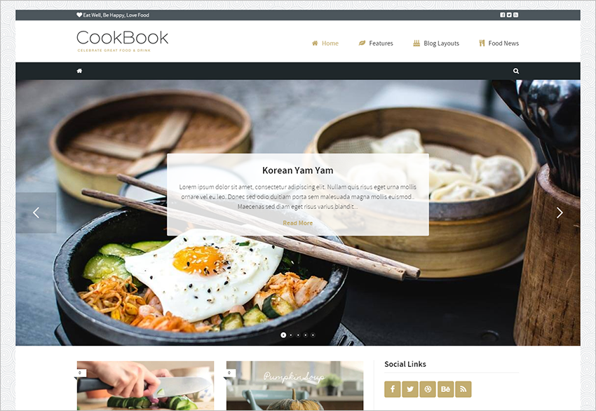 Food Magazine Blog WordPress Theme