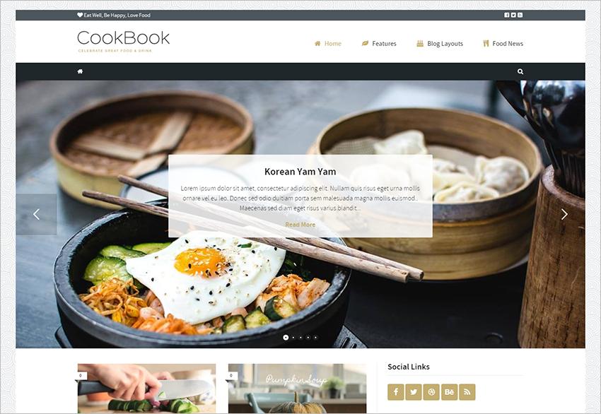 Food Magazine Blog WordPress Theme
