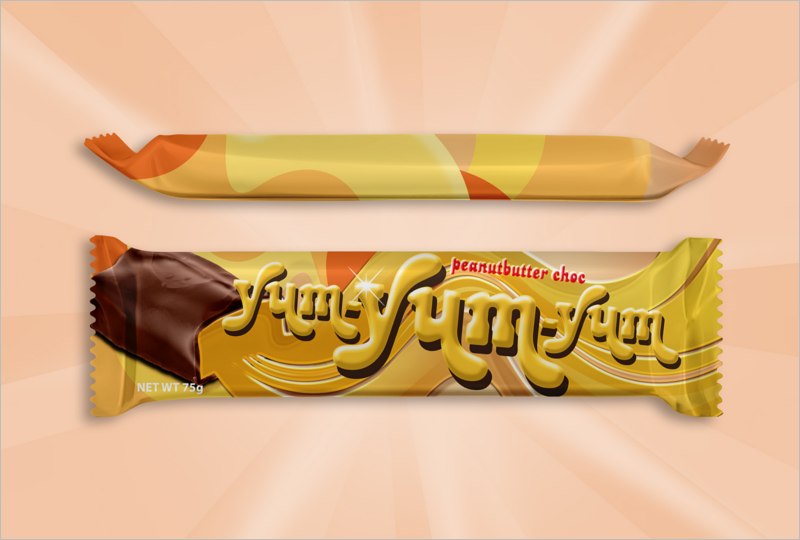 Free CandyBar Wrapper Template