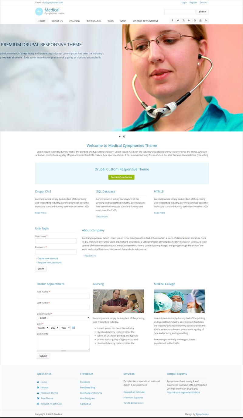Free Drupal Medical Template