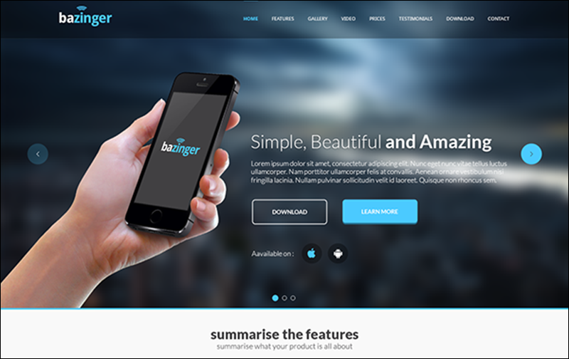Free Landing Page Template PSD
