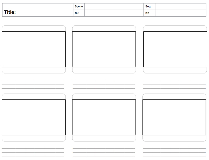 Storyboard Template  Free Word Pdf Psd Format  Creative Template