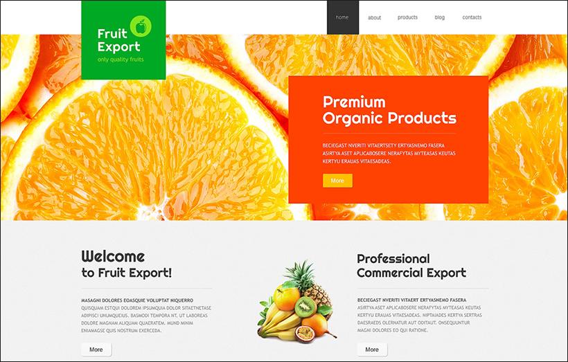 Fruit Export Joomla Template