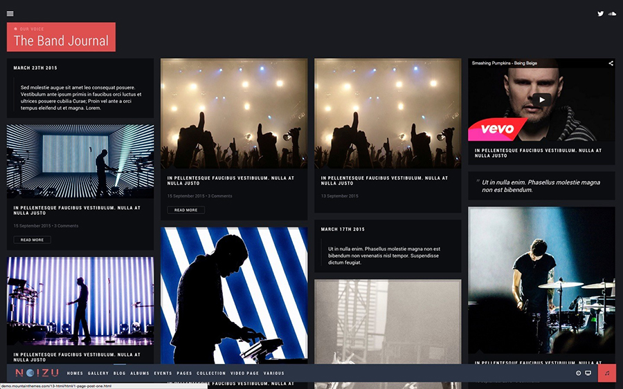 Full Screen Music WordPress Theme