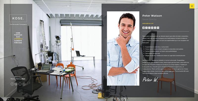 Fullscreen Portfolio HTML Template