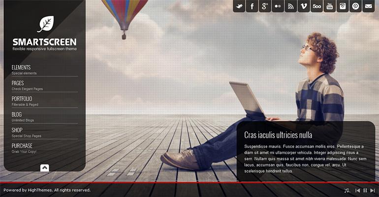 Fullscreen Responsive HTML Template