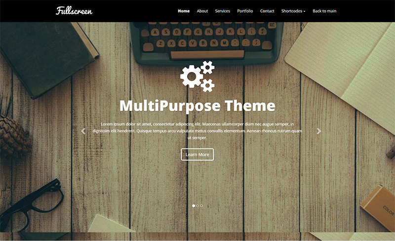 Full-Screen AJAX Portfolio HTML Template