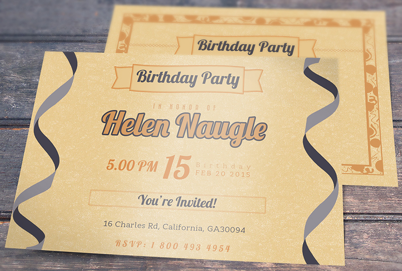 Fully Editable Birthday Invitation Template