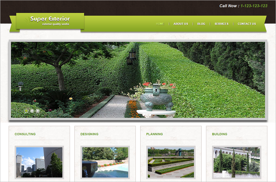 Fully Editable Exterior Design Joomla Theme