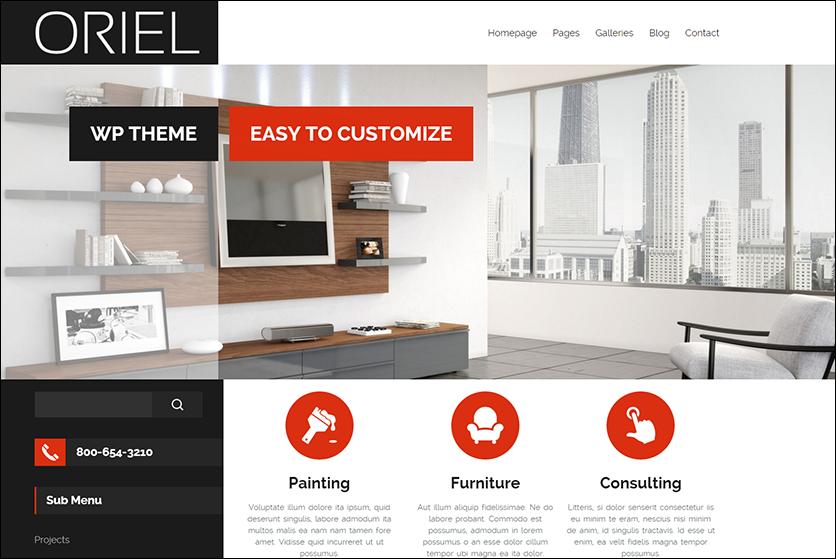 Fully Editable Interior Design WordPress Theme