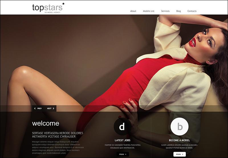 Fully Editable Model Agency WordPress Theme