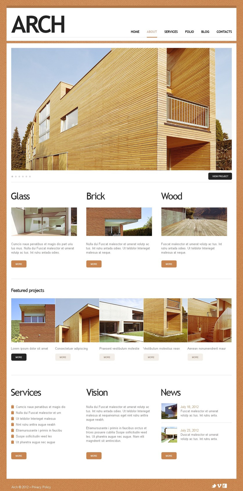 Fully Responsive Construction Company Drupal Template