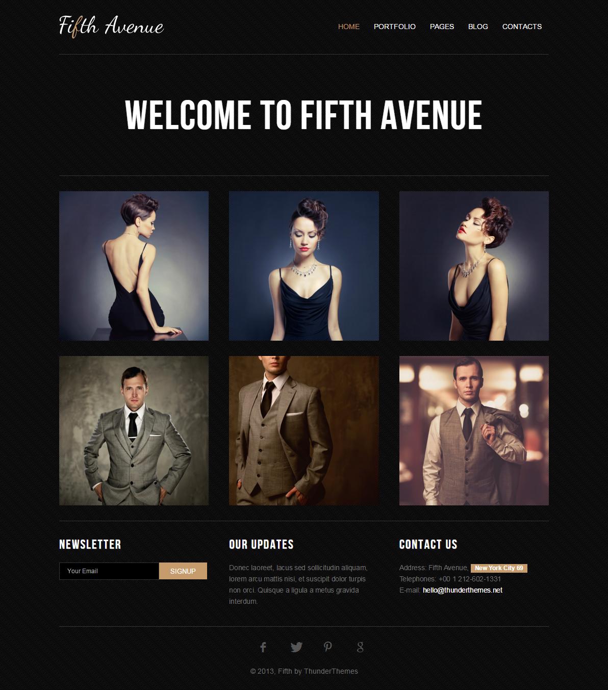 Fully Responsive Fashion Designer HTML5 Template