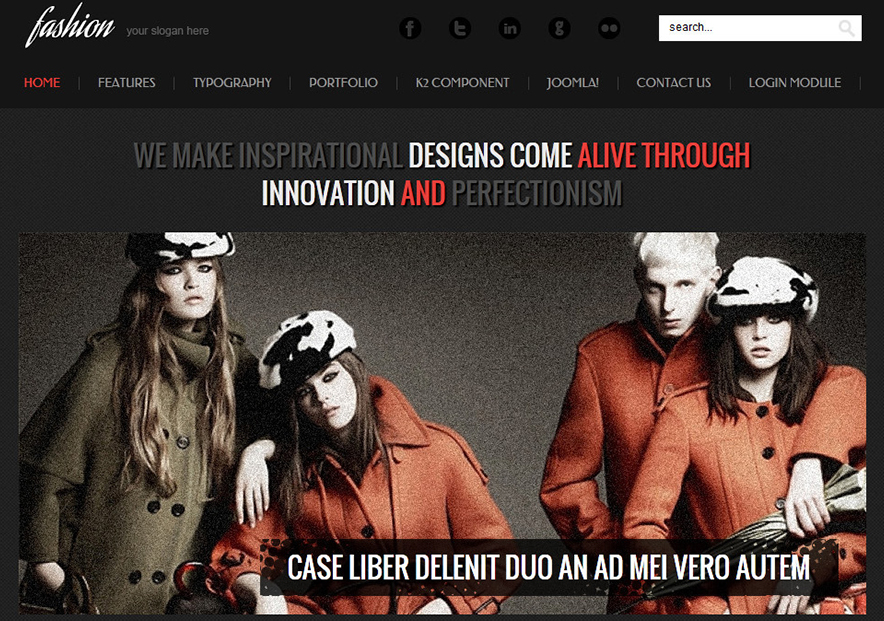 Fully Responsive Fashion Joomla Template
