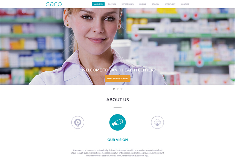Fully Responsive HTML5 Template For Health & Medical Website