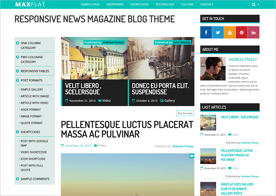 Fully Responsive & SEO Blogging Theme