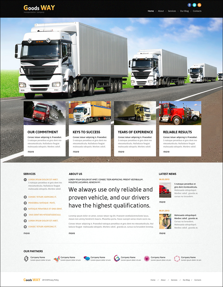 Fully Responsive Transportation Joomla Template