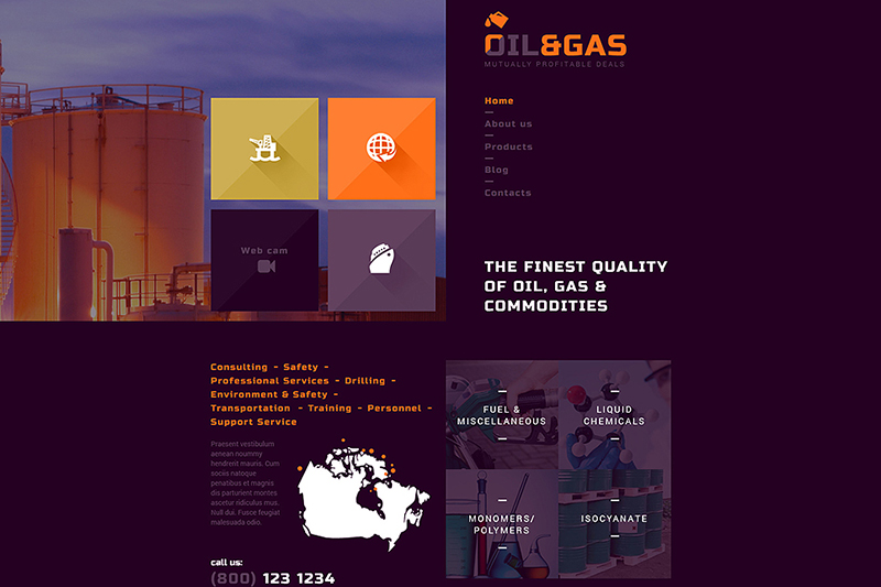 Gas & Oil Industrial Joomla Template