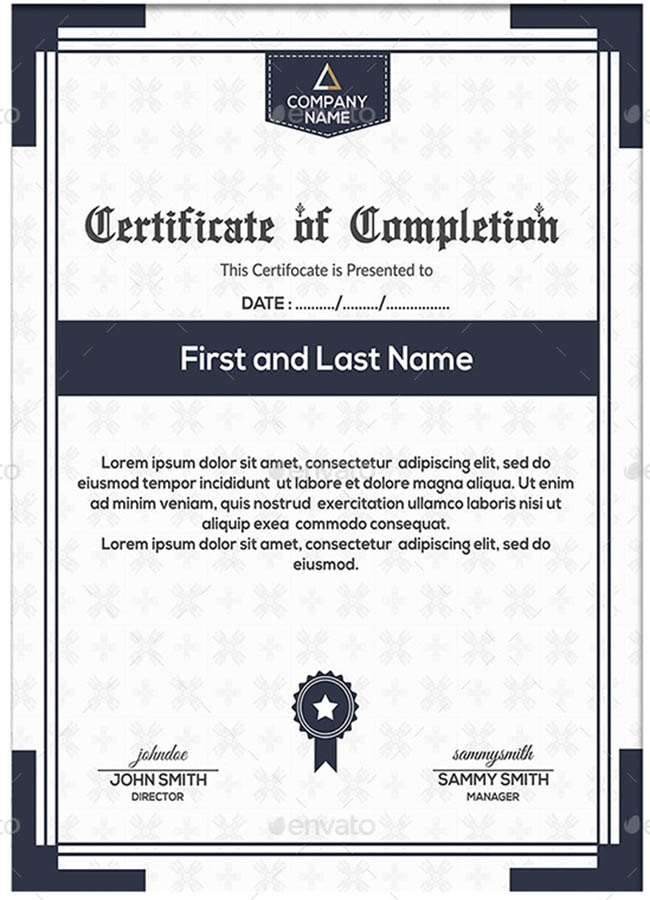 Graduation Certificate Sample Template