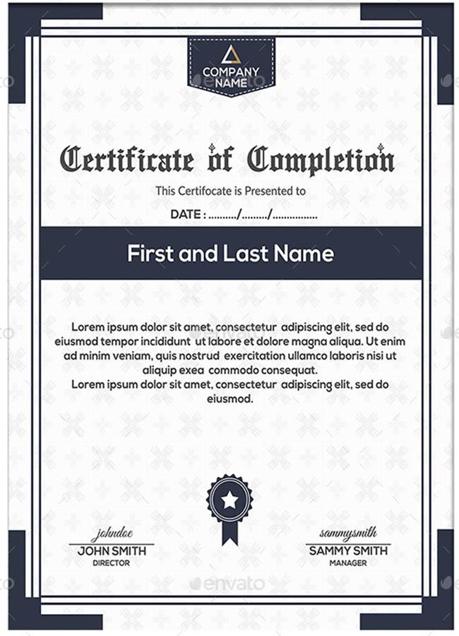 Graduation Certificate Sample Template