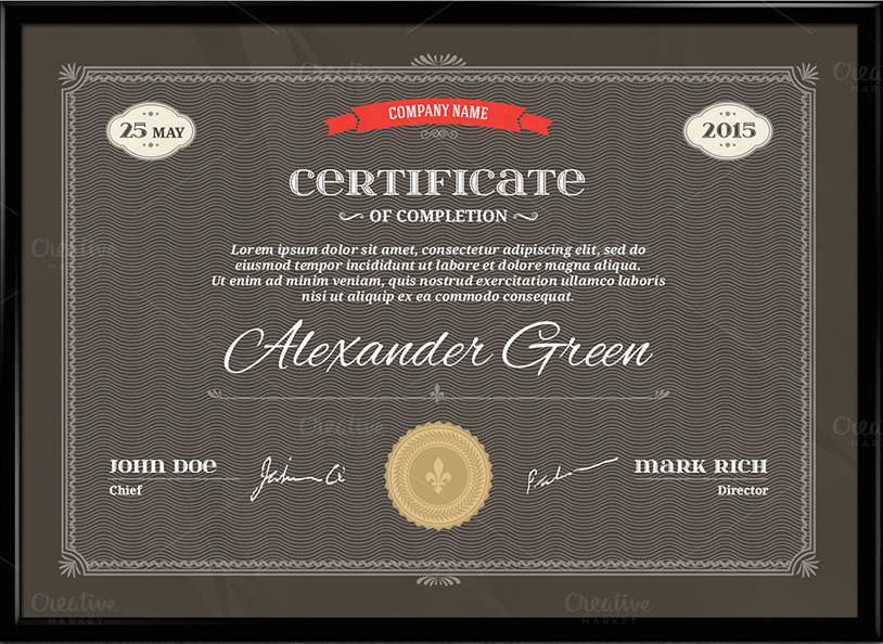 Graduation Certificate Template & Vector