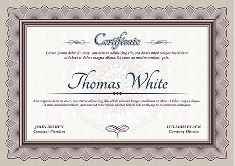 graduation certificate templates creativetemplate. Black Bedroom Furniture Sets. Home Design Ideas
