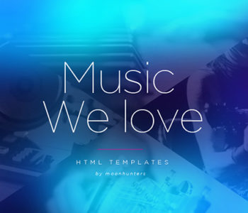 Music HTML5 Website Templates
