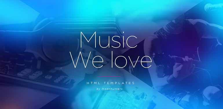 Music HTML5 Website Templates
