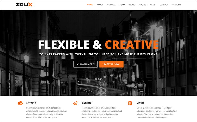 HTML Template With Video Backgrounds