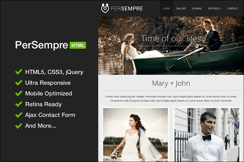 HTML5 & CSS3 Template For Special Events