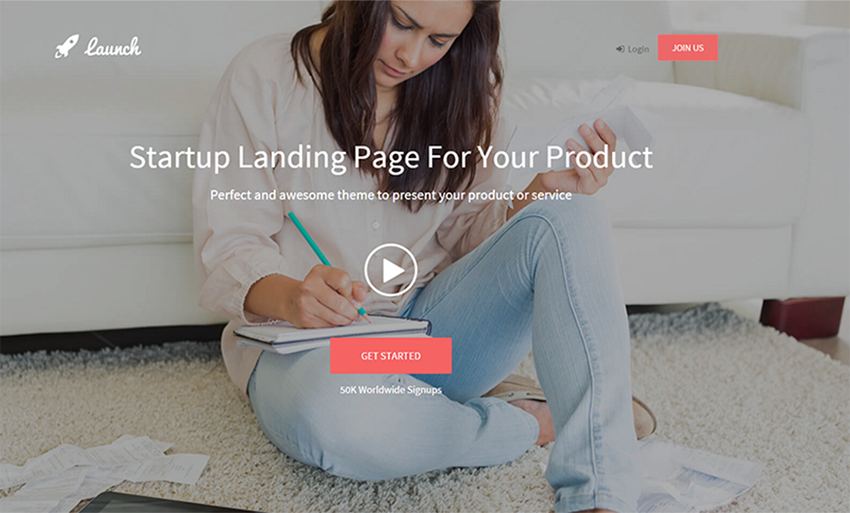 HTML5 & CSS3 Website Landing Page