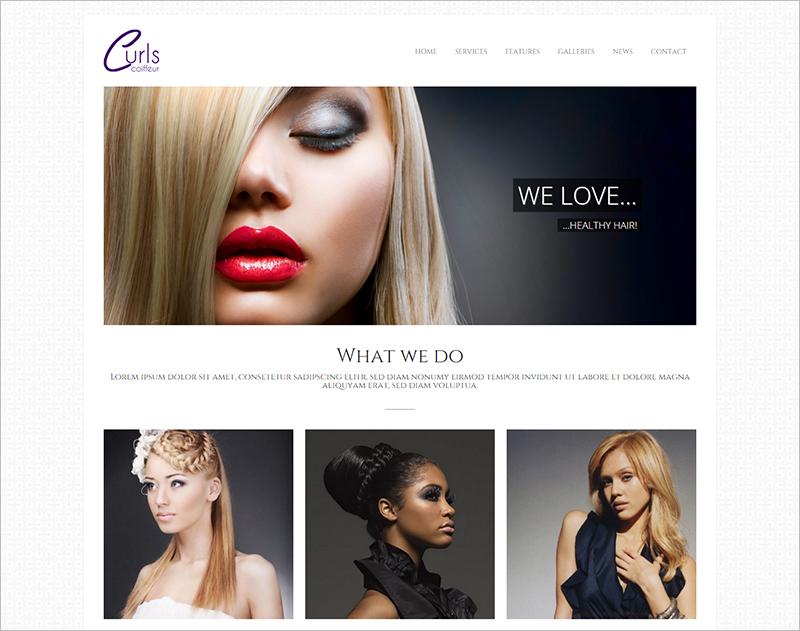Hair Salon and Beauty Salon WordPress Template