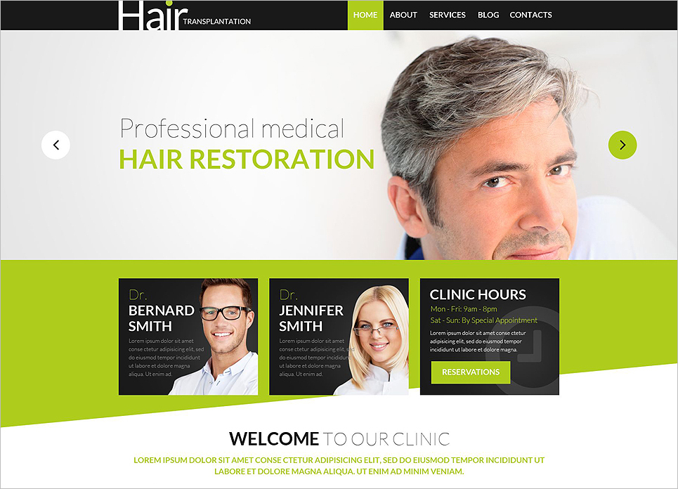Hair Transplantation WordPress Template