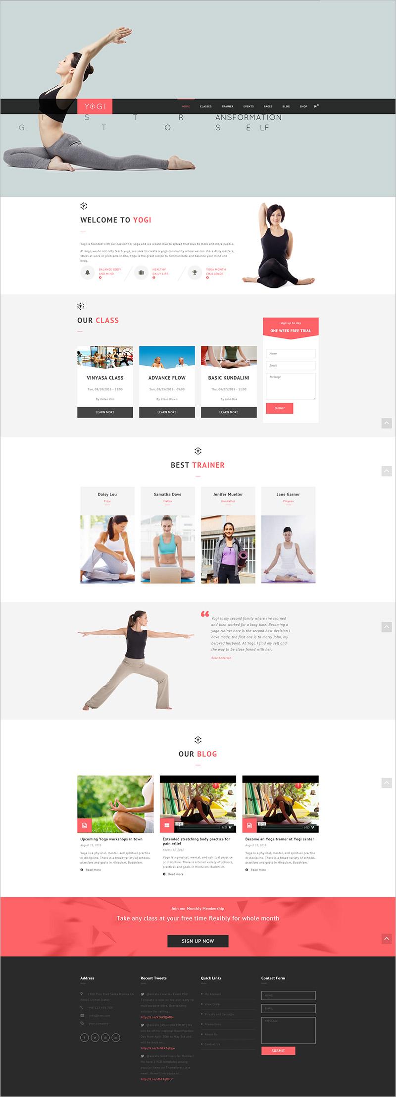 Health Beauty & Yoga Drupal Theme