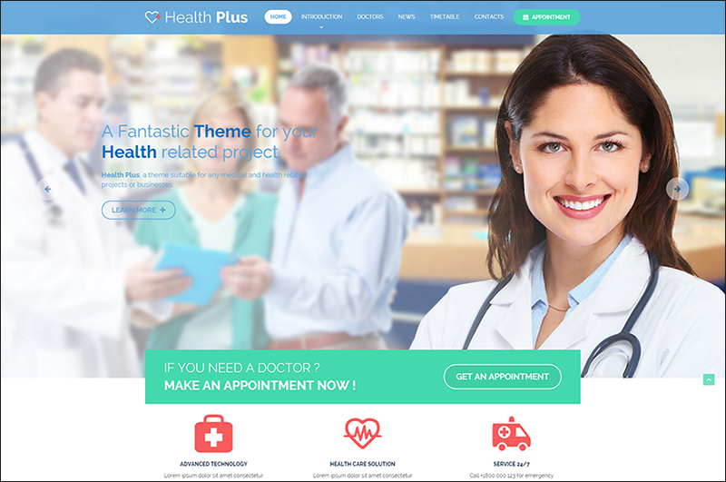 Health & Clinic HTML Template