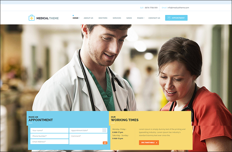 Health & Medical Responsive HTML Template