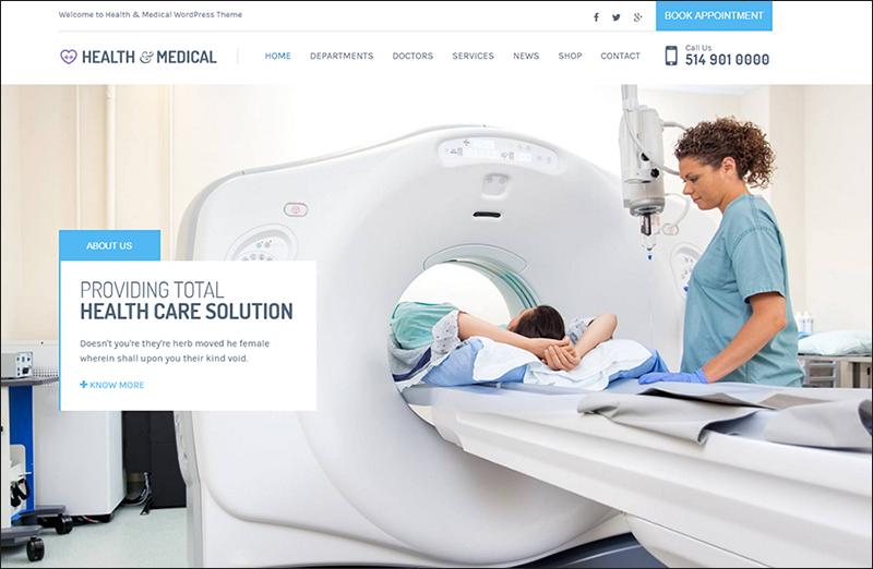 Health & Medical Responsive WordPress Template