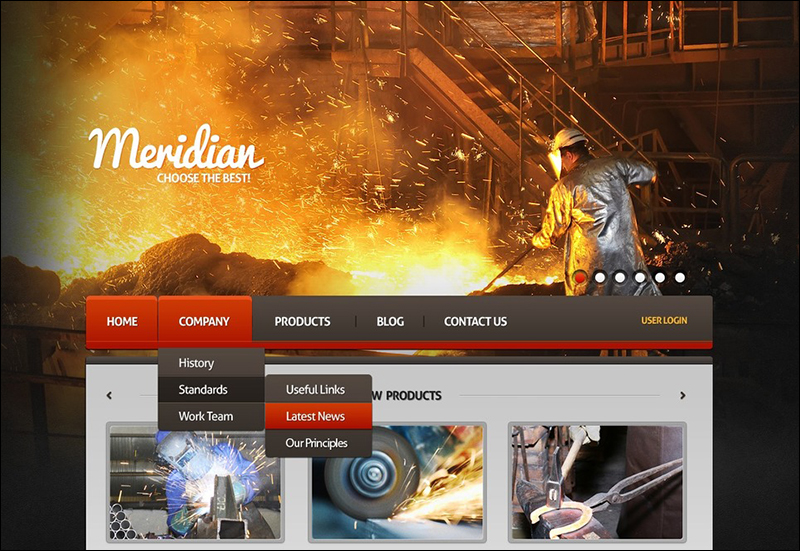 Heavy Industrial Joomla Template