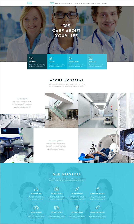 Hospital Theme Drupal 7