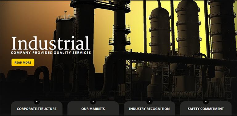 Industrial Joomla Templates